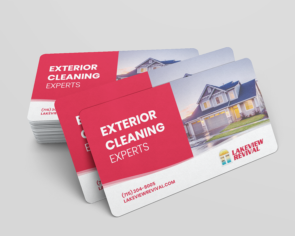 Window cleaning business card design mockup